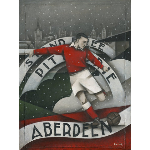 Aberdeen Gift - Aberdeen Winter 2016-17 Ltd Edition Signed football Print - BWSportsArt