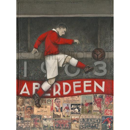Aberdeen Gift -  Ghosts of Pittordrie Ltd Edition Signed Football Print Ltd Edition Print Football Gift