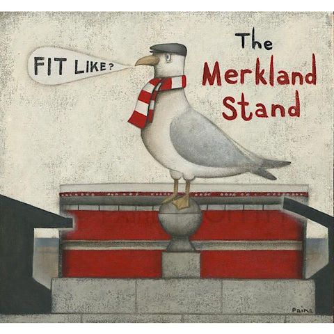 Aberdeen Gift -  Merkland Stand Seagull Ltd Edition Signed Football Print Ltd Edition Print Football Gift
