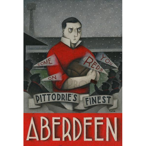Aberdeen Gift - Pittodrie's Finest  Ltd Edition Signed Football Print Ltd Edition Print Football Gift