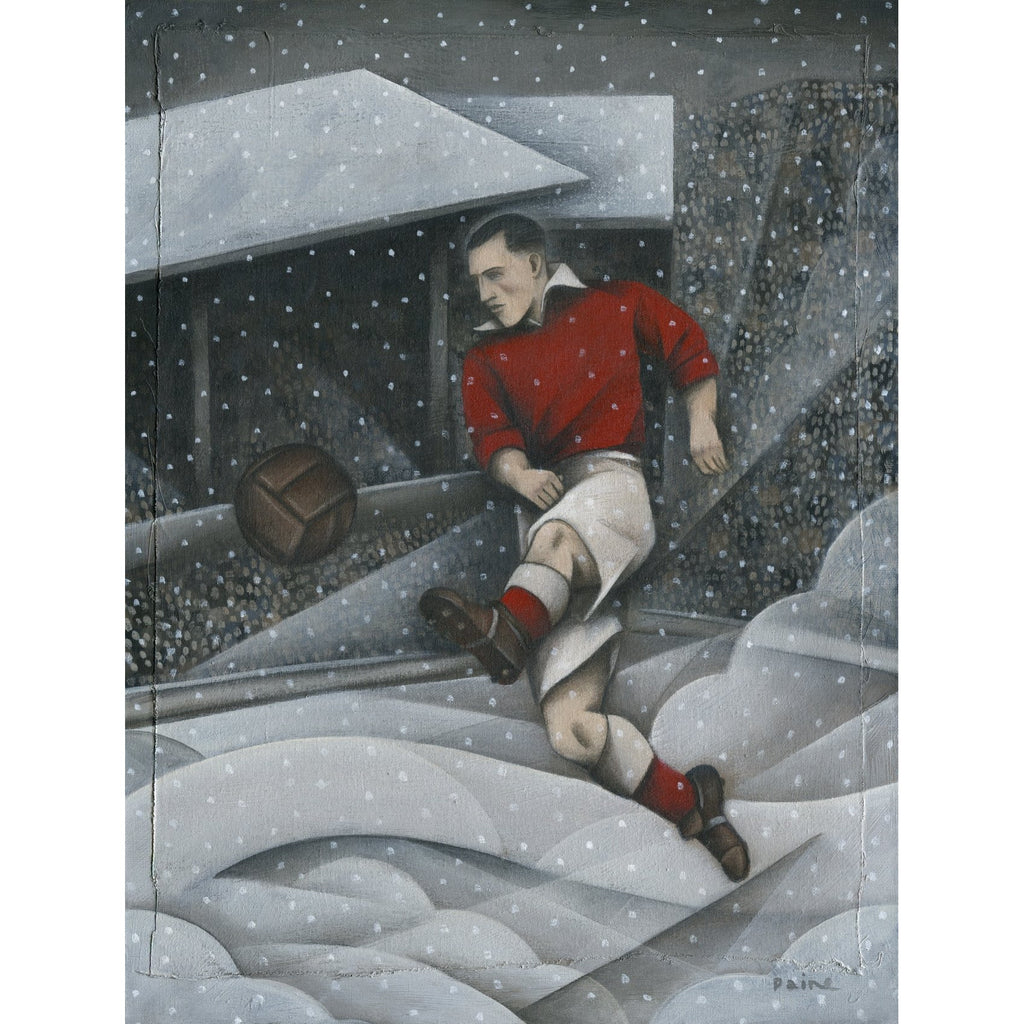 Aberdeen Gift - Pittodrie Winter Ltd Edition signed football Print by Paine Proffitt | BWSportsArt