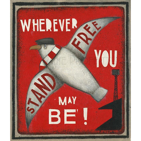 Aberdeen Gift - Seagull Stand Free Ltd Edition Signed Football Print Ltd Edition Print Football Gift