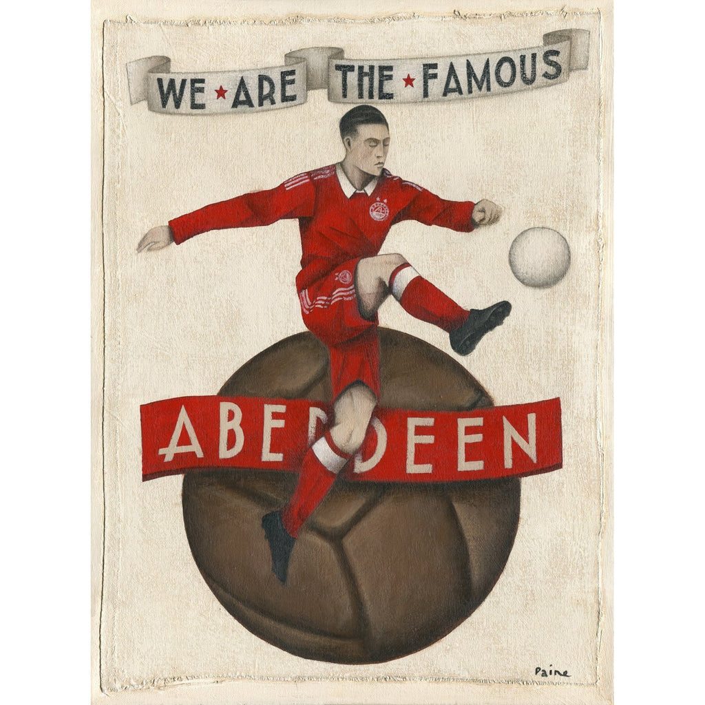 Aberdeen Gift - The Famous Aberdeen Ltd Edition Signed Print 2017 - BWSportsArt