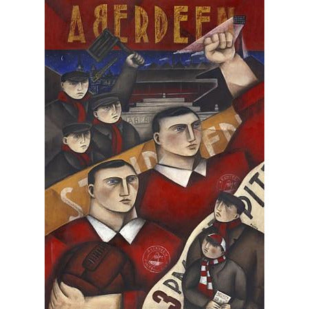 Aberdeen Gift - The Red Revolution Ltd Edition Signed football Print - BWSportsArt
