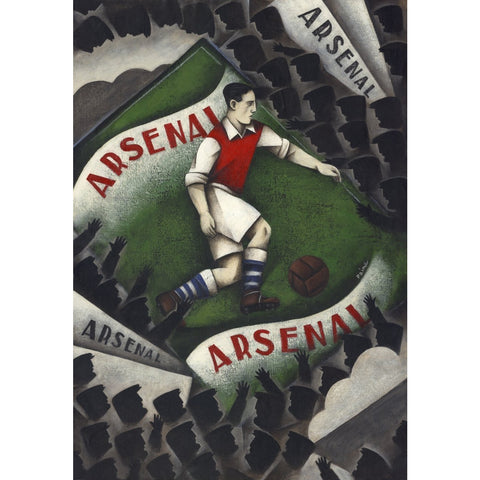 Arsenal Gift - Arsenal Arsenal Ltd Edition Football Print by Paine Proffitt - BWSportsArt