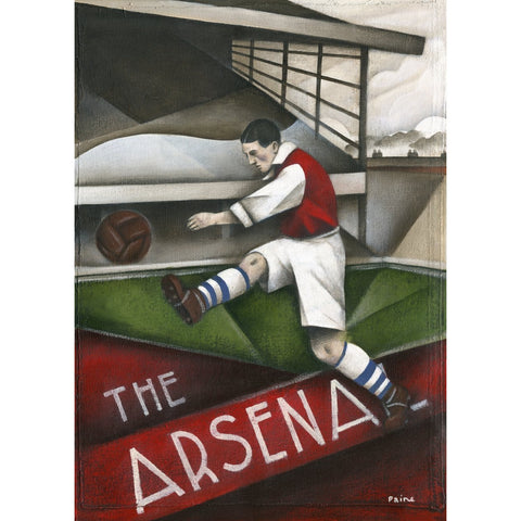 Arsenal Gift - Arsenal Past Ltd Edition Football Print by Paine Proffitt - BWSportsArt
