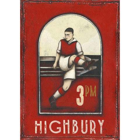 Arsenal Gift- Highbury 3pm Ltd Edition Football Print by Paine Proffitt - BWSportsArt