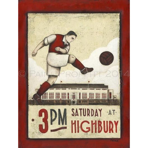 Arsenal Gift - Highbury Ltd Edition Football Print by Paine Proffitt - BWSportsArt