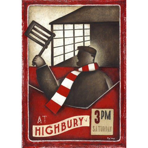 Arsenal Gift - Highbury Rattle Ltd Edition Football Print by Paine Proffitt - BWSportsArt