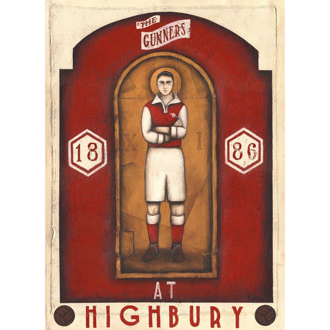 Arsenal Gift - The Player Ltd Edition Football Print by Paine Proffitt - BWSportsArt