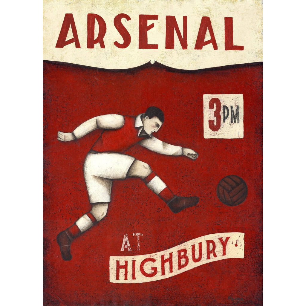 Arsenal Gift - The Striker Limited Football Edition Print by Paine Proffitt | BWSportsArt