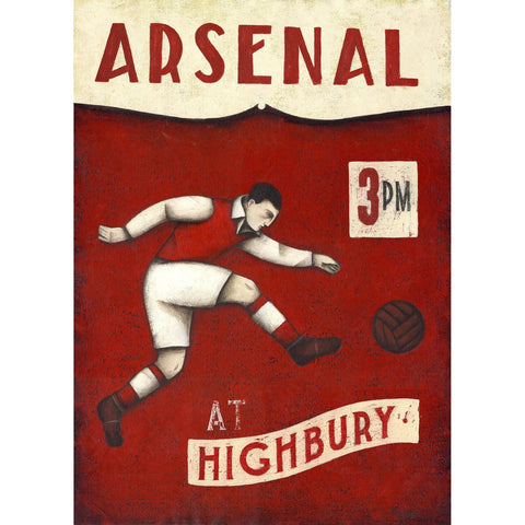 Arsenal Gift - The Striker Limited Football Edition Print by Paine Proffitt - BWSportsArt