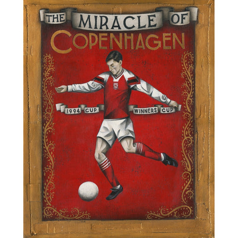 Arsenal Gift - Arsenal Cup Winners Cup Ltd Edition Signed Football Print - BWSportsArt