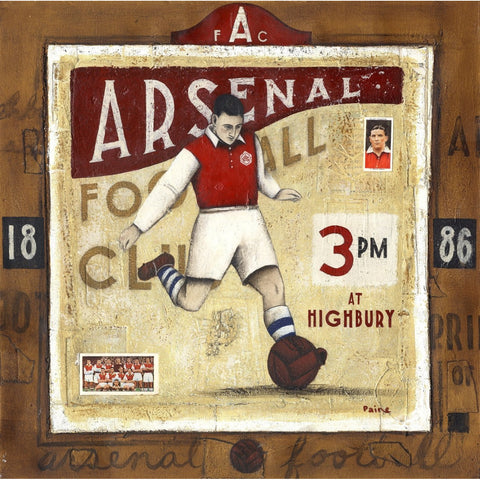 Arsenal Gift - Arsenal Ted Drake Limited edition signed football Print - BWSportsArt