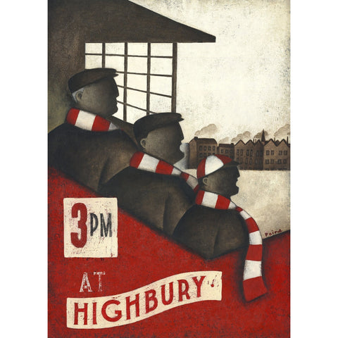 Arsenal Gift - Highbury In Our Family Blood Ltd Edition Signed Football Print - BWSportsArt