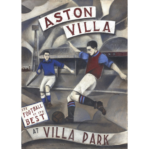 Aston Villa Gift - Aston Villa at Villa Park Limited Edition Football Print by Paine Proffitt | BWSportsArt