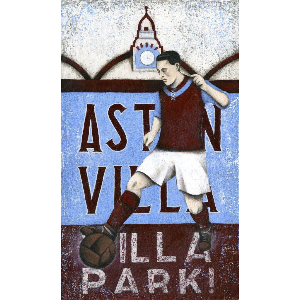Aston Villa Gift -  Villa Limited Edition Football Print by Paine Proffitt - BWSportsArt
