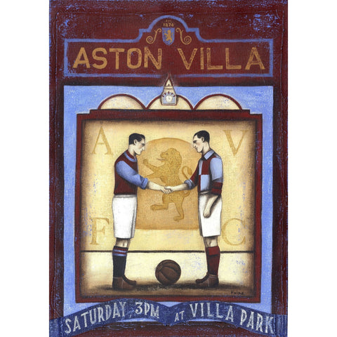 Aston Villa Gift - Aston Villa Saturday Ltd Edition Signed Football Print - BWSportsArt