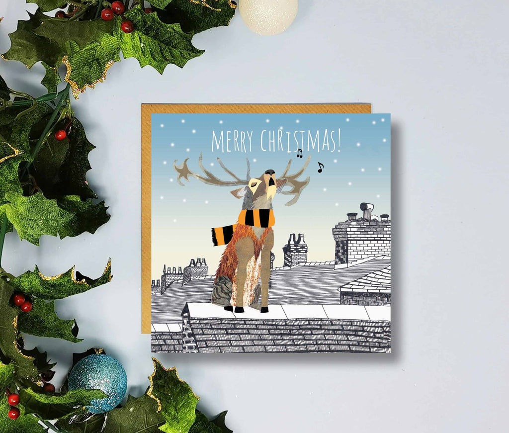 Wolves Merry Christmas Cards by Flying Teaspoons