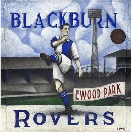 Blackburn Rovers Gift - Limited Edition Football Print by Paine Proffitt - BWSportsArt