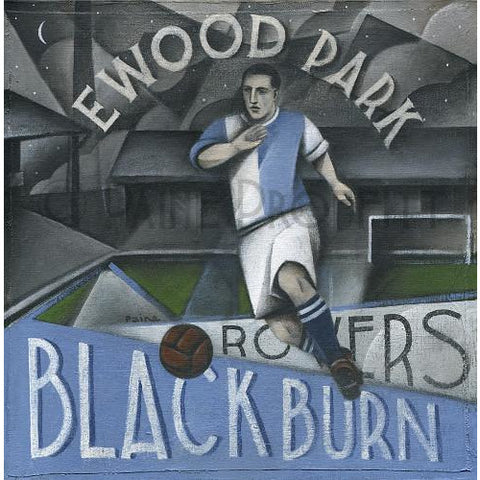 Blackburn Rovers Gift - At Ewood Park Ltd Ed Signed Football Print | BWSportsArt