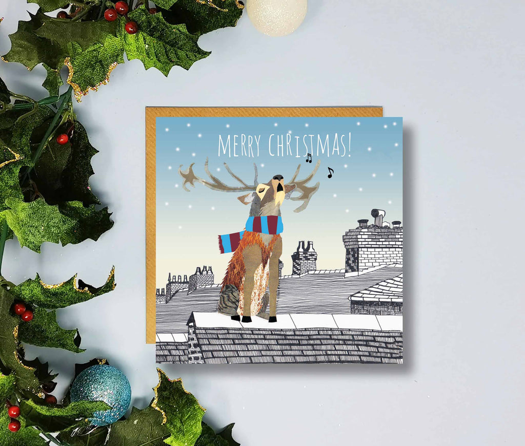 Inverness CT Gifts - Merry Christmas Cards by Flying Teaspoons