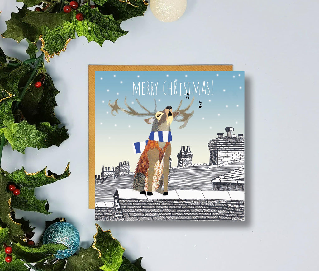 Leicester City Merry Christmas Cards by Flying Teaspoons