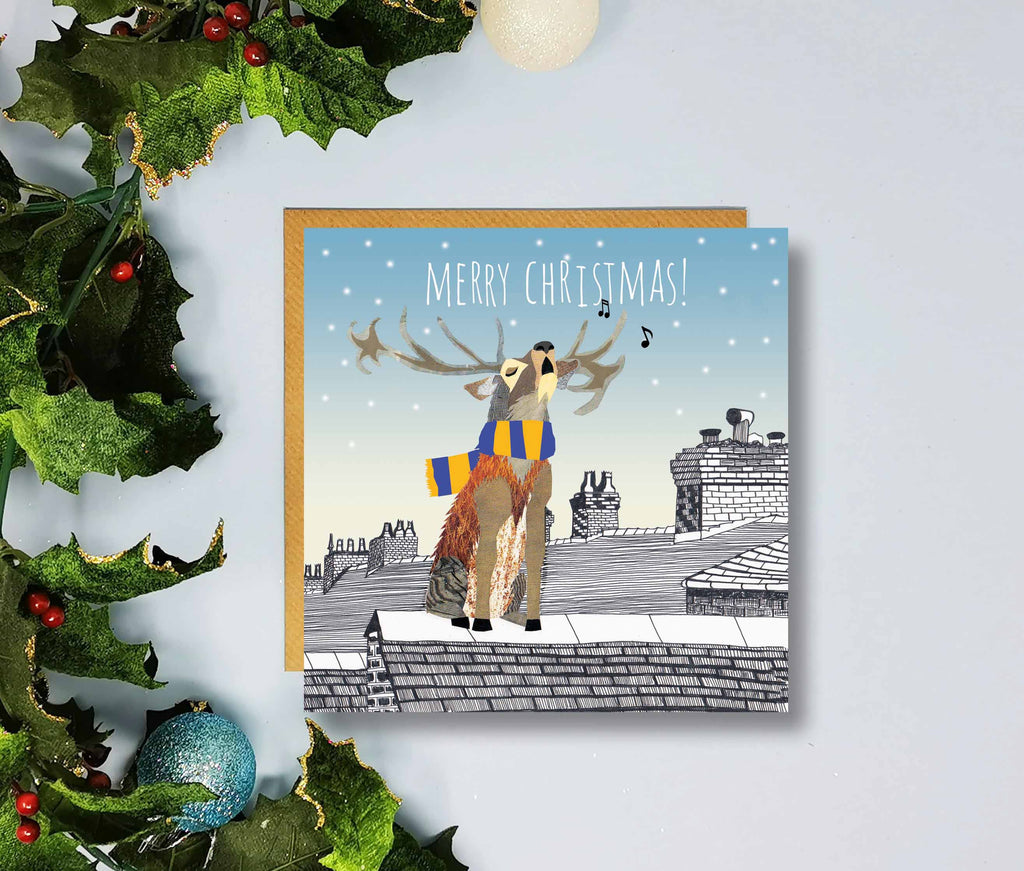 Mansfield Town Merry Christmas Cards by Flying Teaspoons