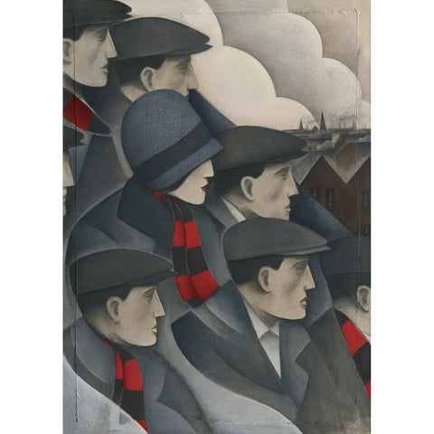 Bournemouth The Crowd - Limited Edition Print by Paine Proffitt | BWSportsArt