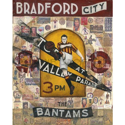 Bradford City Gift - Bradford Today At Valley Parade Limited Edition Football Print by Paine Proffitt - BWSportsArt