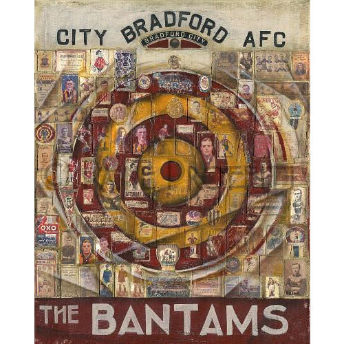 Bradford City Gift - Bradford City Limited Edition Signed Football Print - BWSportsArt