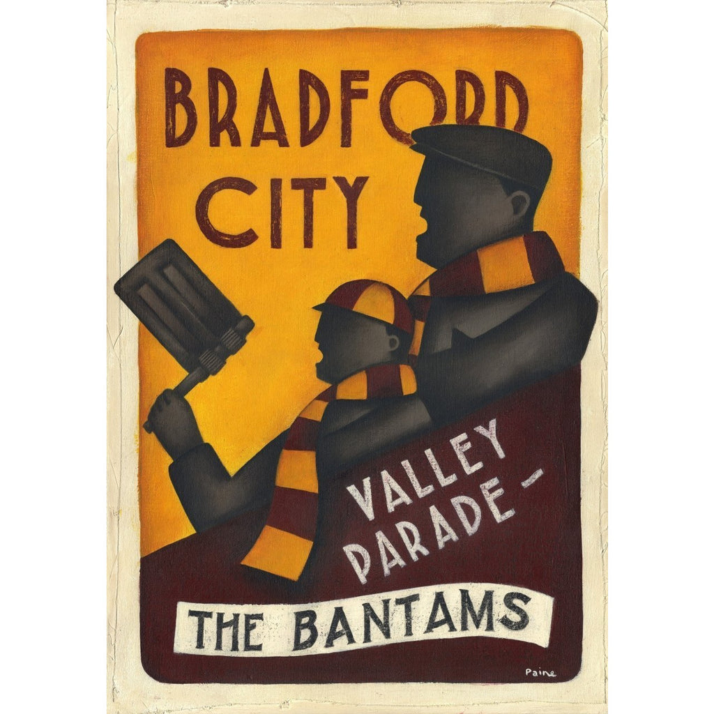 Bradford City Gift - The Bantams Limited Edition Football Print by Paine Proffitt - BWSportsArt