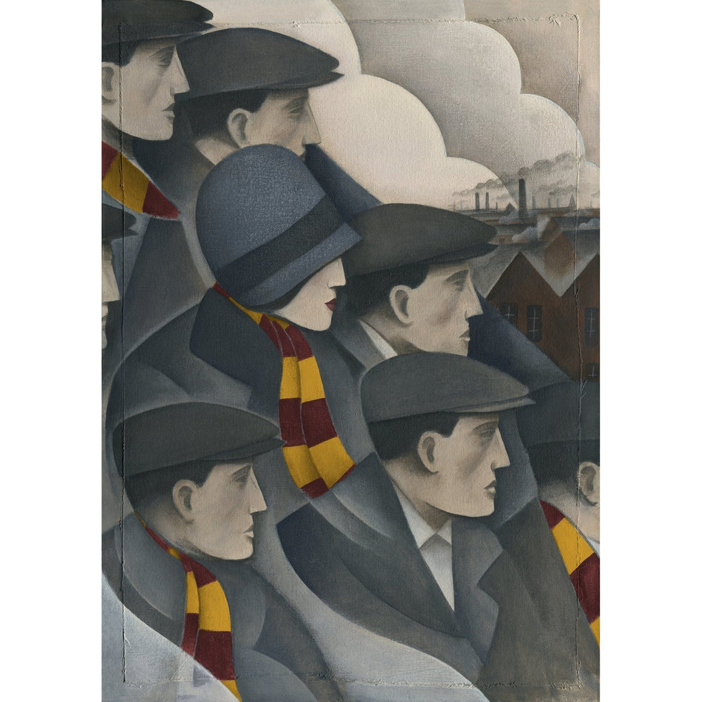 Bradford City Gift - The Crowd Ltd Edition Football Print by Paine Proffitt - BWSportsArt