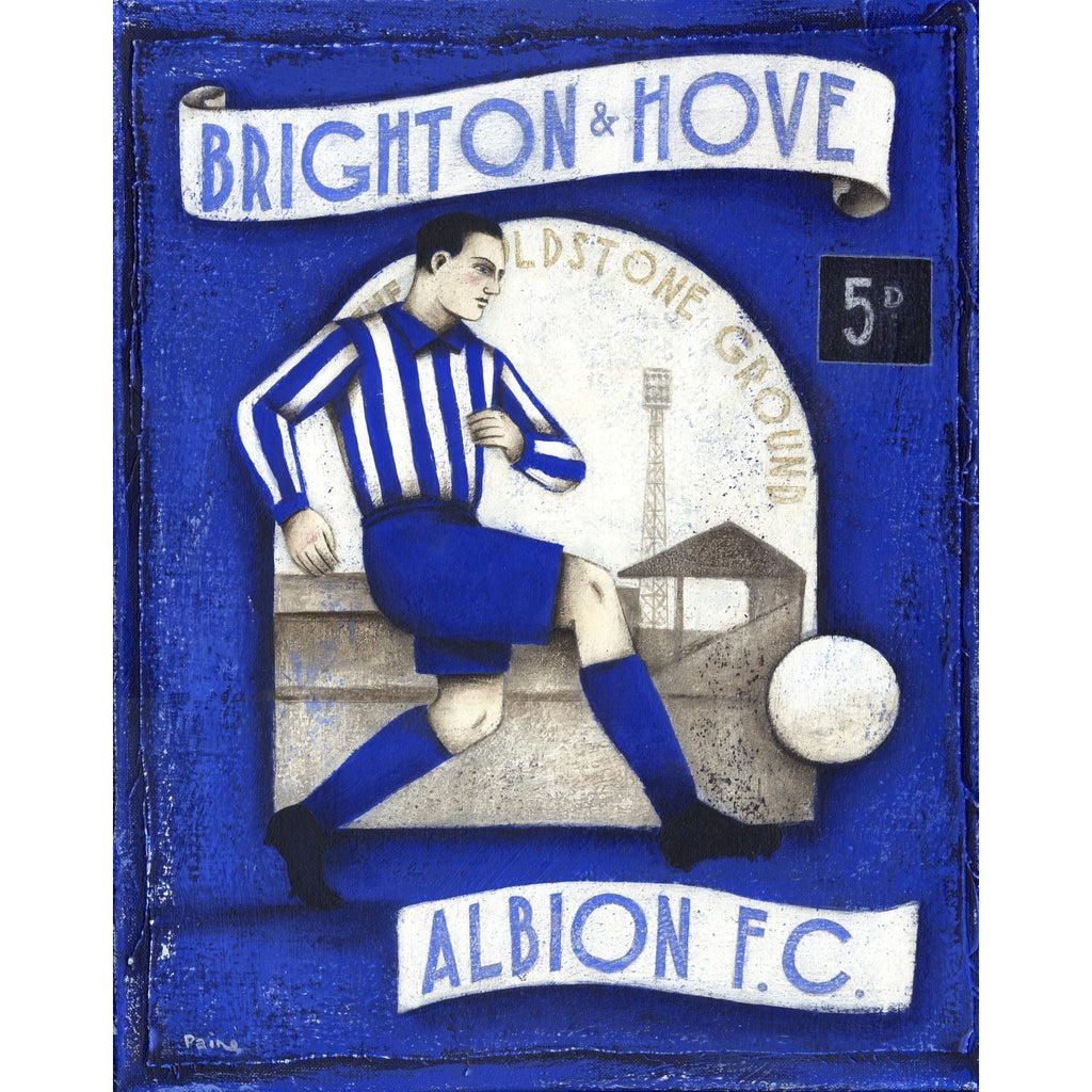 Brighton and Hove Albion - 5D Limited Edition Print by Paine Proffitt - BWSportsArt