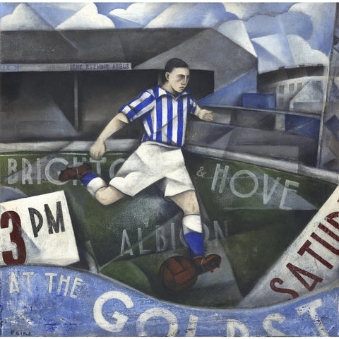 Brighton and Hove Albion - At the Goldstone Road  Limited Edition Print by Paine Proffitt | BWSportsArt