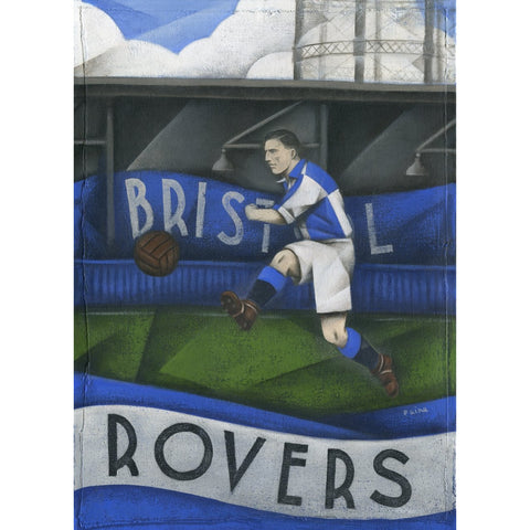 Bristol Rovers Gift - At Eastville Ltd Edition Football Print by Paine Proffitt - BWSportsArt