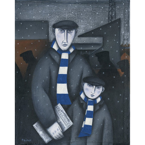 Bristol Rovers Gift - Every Saturday Limited Edition Football Print by Paine Proffitt | BWSportsArt