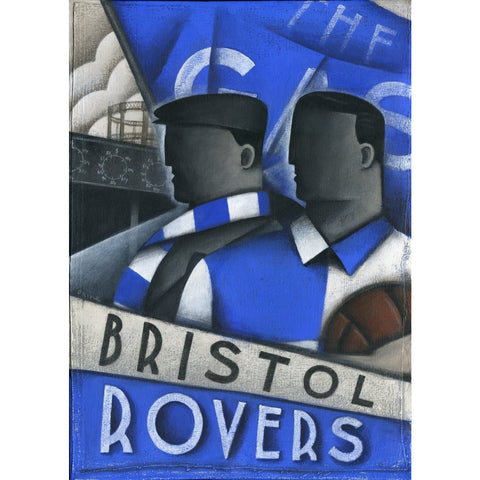 Bristol Rovers Gift - The Gas Limited Edition Signed Football Print | BWSportsArt