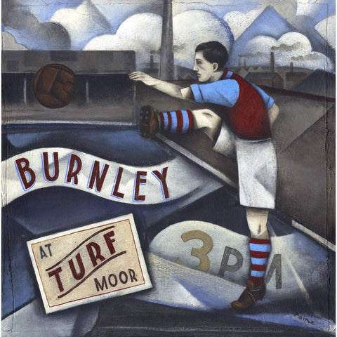Burnley FC - Burnley At Turf Moor Edition Print by Paine Proffitt - BWSportsArt