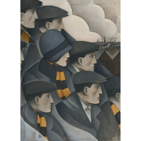 Cambridge United The Crowd - Limited Edition Print by Paine Proffitt - BWSportsArt