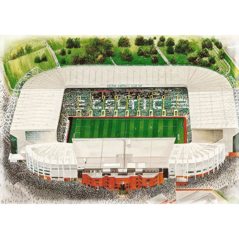 Celtic Signed Print Gift - Celtic Park by Kevin Fletcher - BWSportsArt