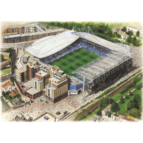 Chelsea Signed Print Gift - Stamford Bridge by Kevin Fletcher - BWSportsArt