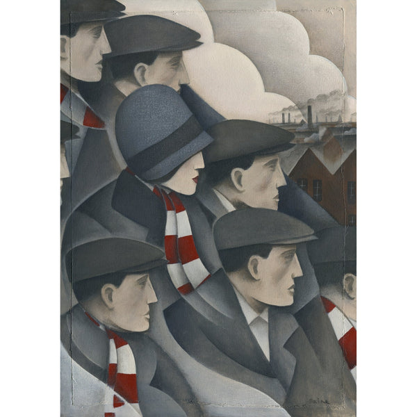 Crawley Town The Crowd Ltd Edition Print by Paine Proffitt - BWSportsArt