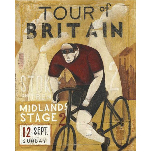 Cycling - Tour of Britain Midlands Ltd Edition Print by Paine Proffitt - BWSportsArt