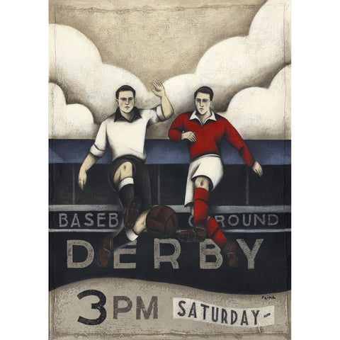 Derby V Forest - Game Ltd Edition Print by Paine Proffitt Ltd Edition Print Football Gift