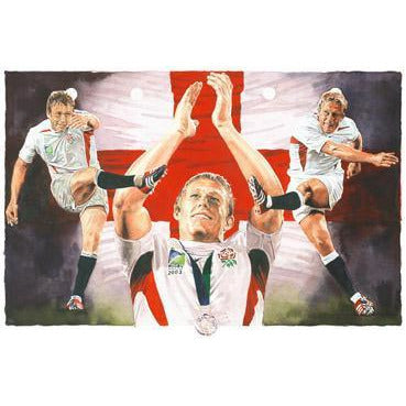 England Rugby Signed Print Gift - Lionheart - BWSportsArt