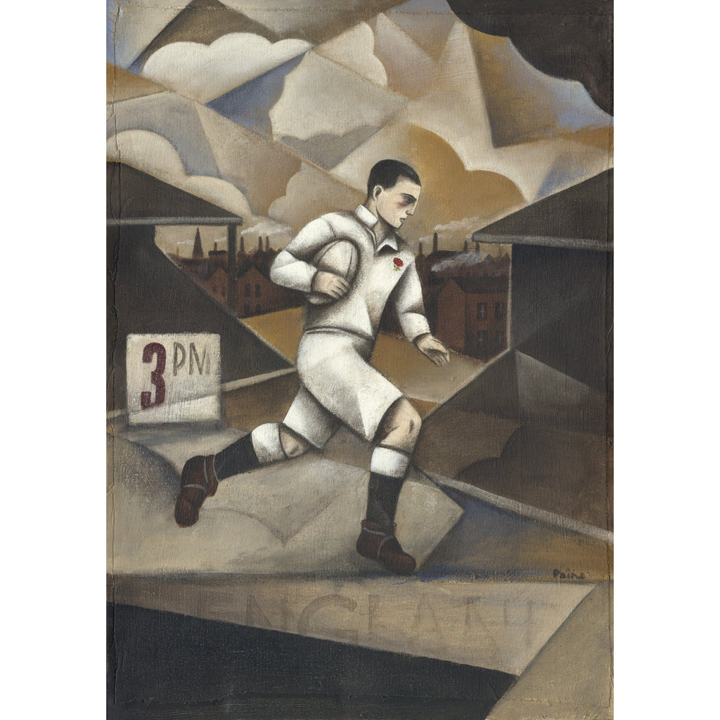 English Rugby Ltd Edition Print by Paine Proffitt Ltd Edition Print Football Gift