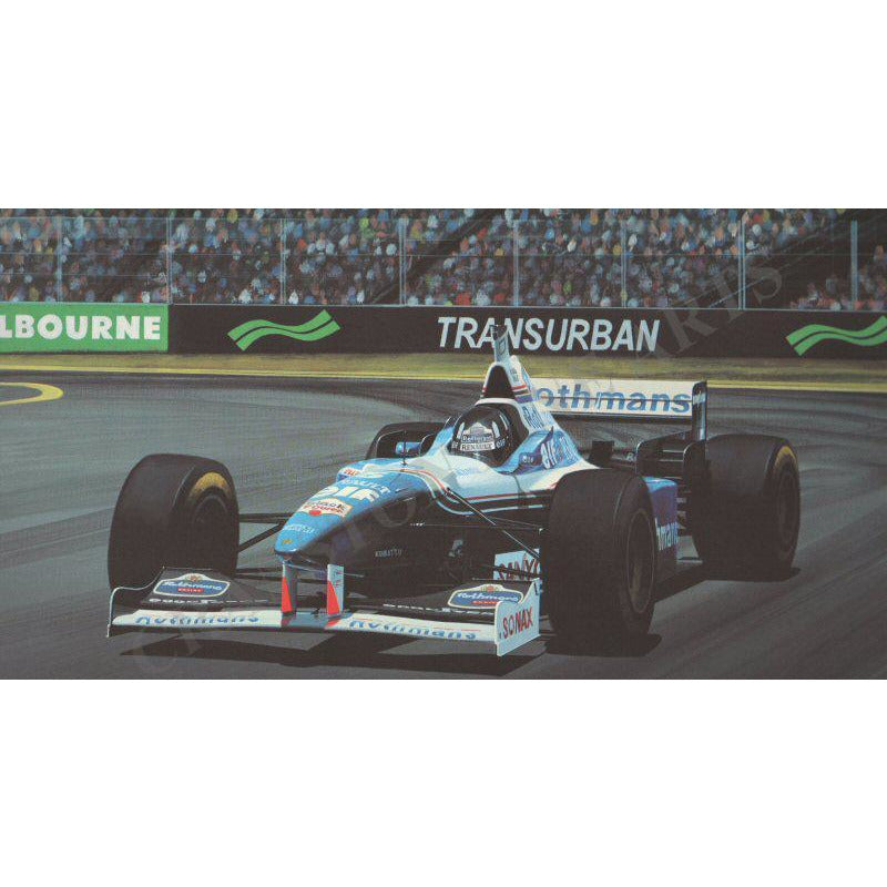 Formula1 Damon Hill Ltd Edition Signed Print Gift by Ivan Berryman - BWSportsArt