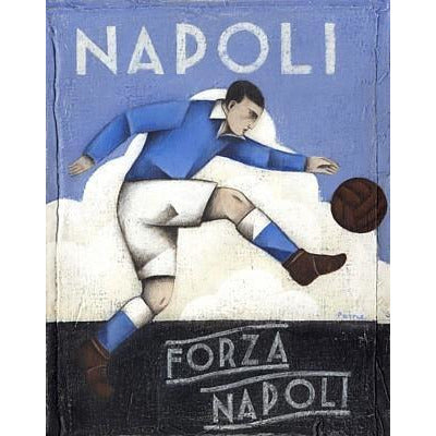 Italian Football Gift - Forza Napoli Limited Edition Print by Paine Proffitt | BWSportsArt