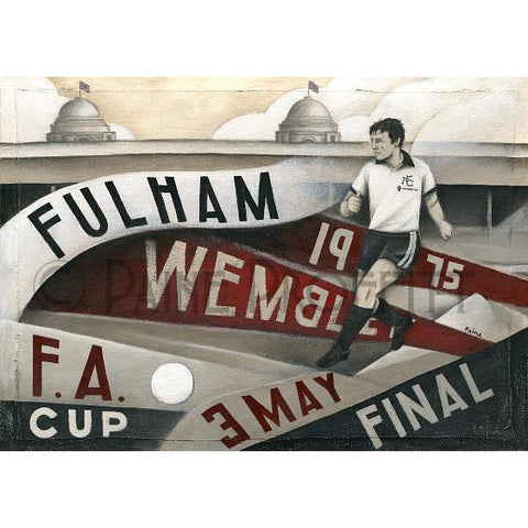 Fulham Gift - Fulham At Wembley 1975 Ltd Ed Signed Football Print by Paine Proffitt | BWSportsArt